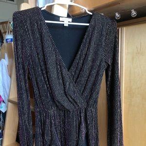 Sparky Fluorescent Black Dress Lose Fitting